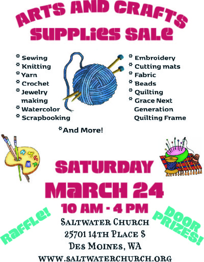 Fuundraising saltwater unitarian universalist church for Clearance craft supplies sale